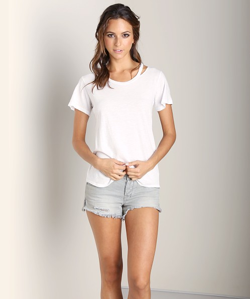LNA Clothing Bolero Tee White