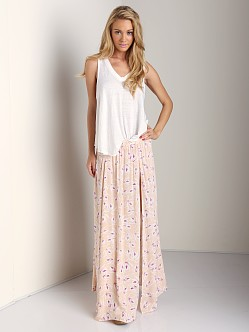 Acacia Morocco Long Panel Slit Skirt Island Orchid