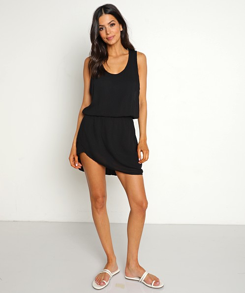 Stillwater Scoop Neck Mini Dress Black