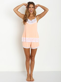 Cheek Frills Pastel Neon Cami and Bedshort Coral Neon