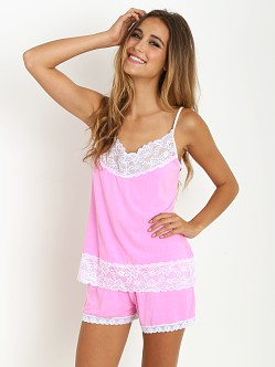 Cheek Frills Pastel Neon Cami and Bedshort Pink Neon