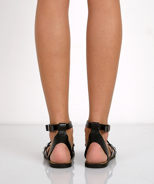 E8 by Miista Regina Studded Sandal Black
