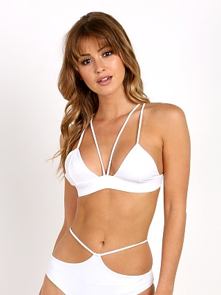 Indah Ascend Triangle Bikini Top White