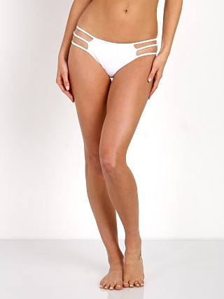 Indah September Bikini Bottom White Rib