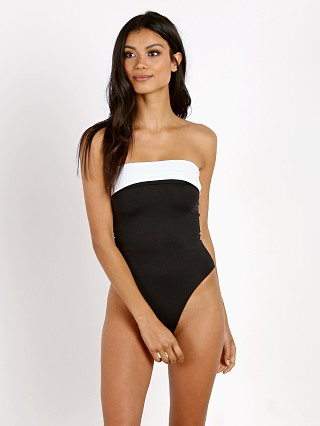 L Space Mustang High Leg One Piece Black/White