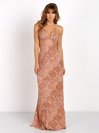 Indah Blaze Maxi Dress Bronze Tangier