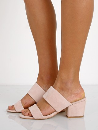 Model in rose quartz suede SOL SANA Tina Mule