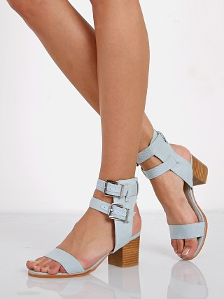 Model in light denim SOL SANA Porter Heel Ii
