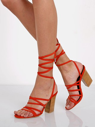 Model in flame suede SOL SANA Layla Heel