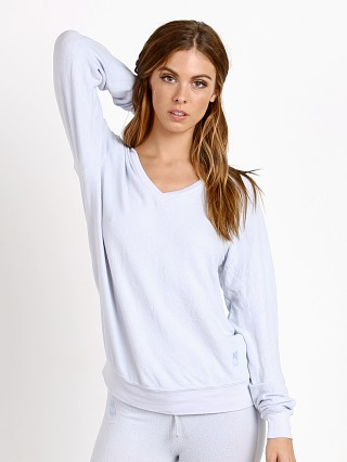 WILDFOX Basic Sweater Blue Pearl