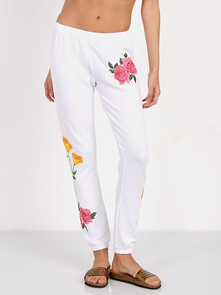 WILDFOX Meadow Flowers Knox Sweats Clean White