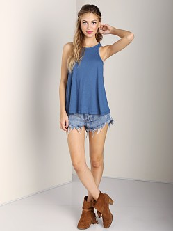 Free People Long Beach Tank Denim