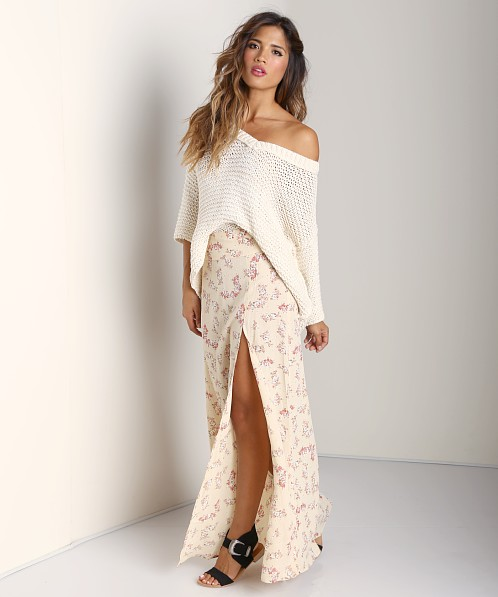 Free People Park Slope Sweater Cream