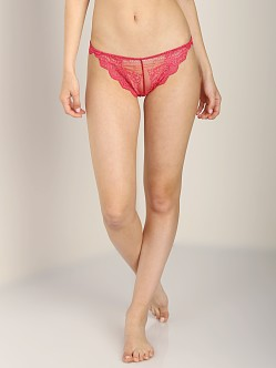 Only Hearts So Fine with Lace Thong Geranium