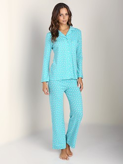 Only Hearts Heritage Heart Piped PJs Blue Grass/Bone