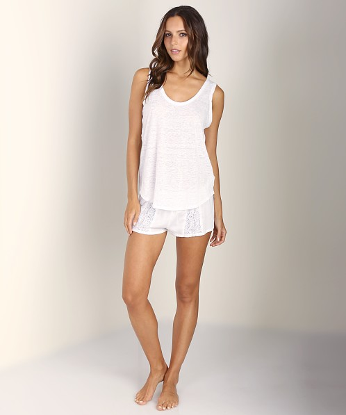 Only Hearts Ramona Sleep Shorts White