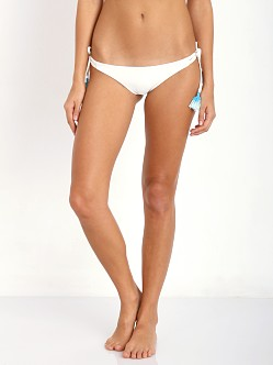 Bettinis Strappy Tie Side Bikini Bottom Bone