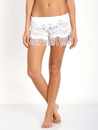 Bettinis Lace Shorts with Fringe Bone