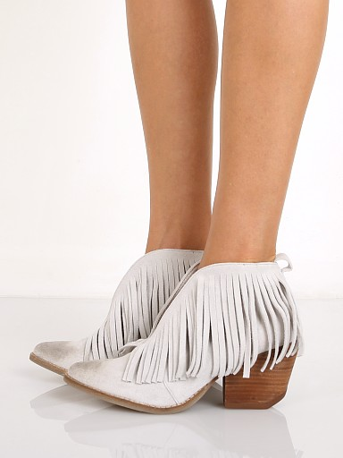 Matisse Lambert Fringe Bootie Light Grey