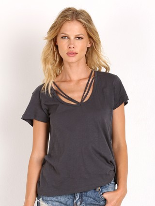 LNA Clothing Strapped Deep V Faded Grey Faded Grey