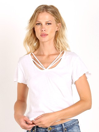 LNA Clothing Strapped Deep V White