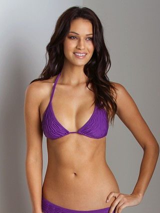 Maya Solids String Scrunch Top Violet