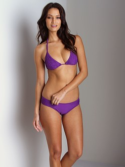 Maya Solids String Scrunch Bottom Violet