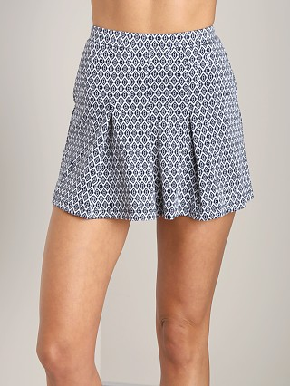Only Hearts Love Letters Jacquard Pleated Skort White