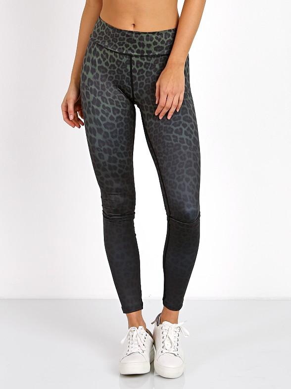 Vie Active Rockell Full Length Tight Olive Leopard Ombre