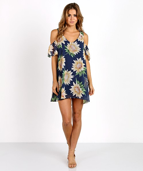 Show Me Your Mumu Birdie Ruffle Dress Sunflower Dreams