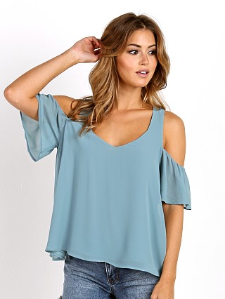 Show Me Your Mumu Hazel Ruffle Top Poolside