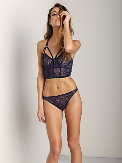 Lonely Sabel Underwire Longline Bra Navy
