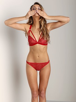 Lonely Sabel Cut Out Bra Red