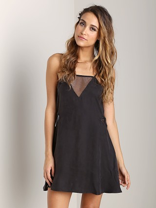 Lonely Mesh Slip Black