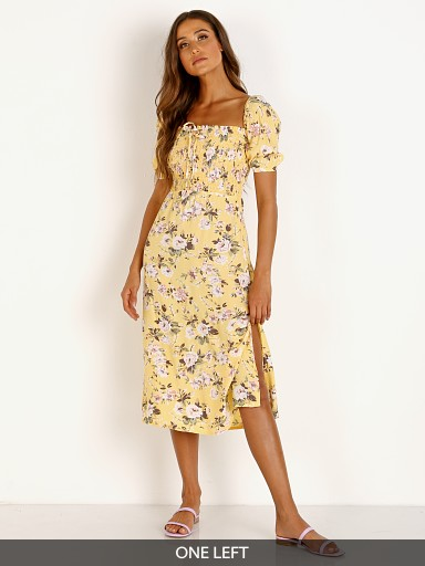 Faithfull the Brand Majorelle Midi Dress Pomeline Floral Jasmin