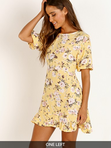 Faithfull the Brand Jeanette Dress Pomeline Floral Jasmin Yellow