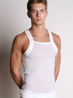 2xist Essential Square Cut Tank Top White