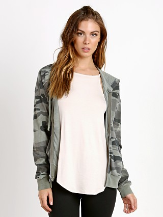 Splendid Olive Camo Zip Up Jacket Vintage Military
