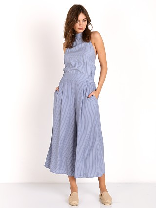 Faithfull the Brand Shore Jumpsuit Oxford Blue Stripe