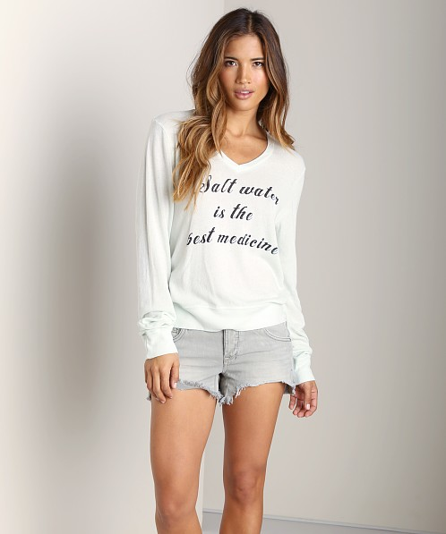 WILDFOX Baggy Beach Jumper Salt Water Sea Mist