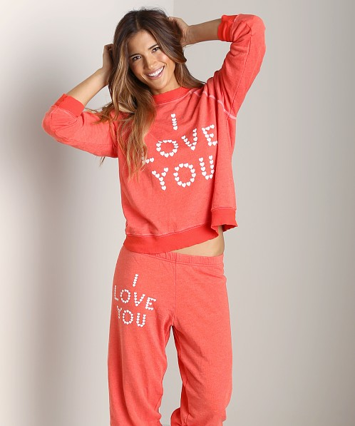 WILDFOX Kims Sweater Little Heart Spell Life Guard
