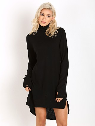 One Teaspoon Superior Merino Knit Funnel Neck Dress Jet Black