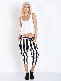 One Teaspoon Le Player Pants Black/White