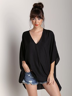 Show Me Your Mumu Petal Tunic Black Satin