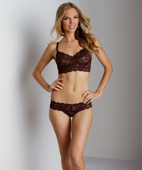 Cosabella Never Say Never Cutie Thong Dark Chocolate