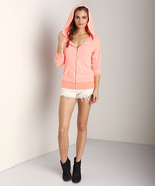 WILDFOX Track Suit Jacket Neon Coral