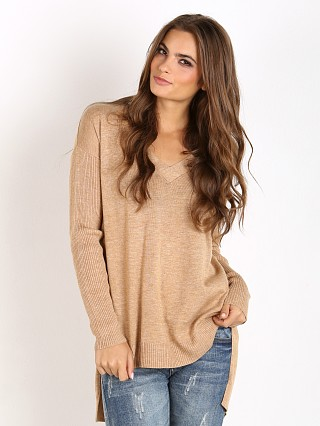 MinkPink Soda Stream V Neck Sweater Oatmeal