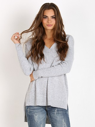 MinkPink Soda Stream V Neck Sweater Grey Marle