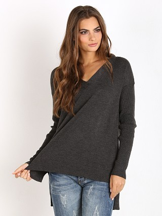 MinkPink Soda Stream V Neck Sweater Black