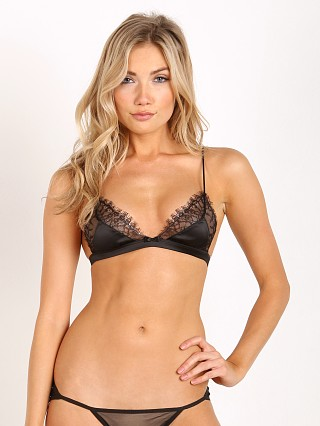 Maison Close Villa Satine Triangle Bralette Black